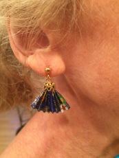 fan earrings from japan